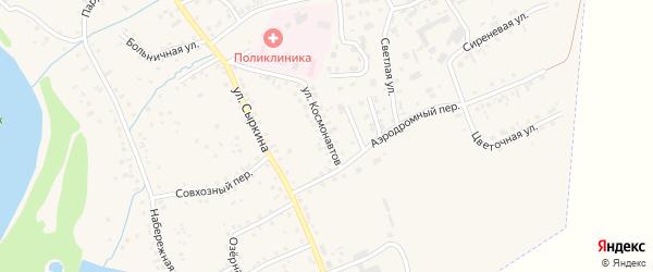 Улица Космонавтов на карте Заринска с номерами домов