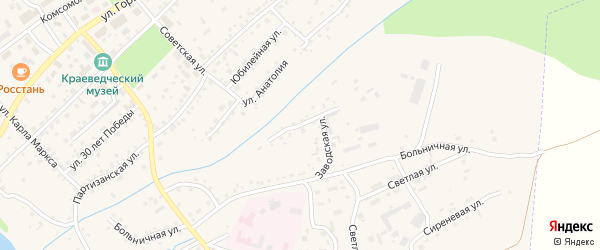 Заводская улица на карте Заринска с номерами домов