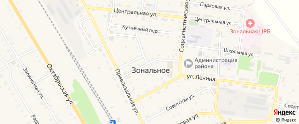 Шоферская улица на карте Зонального села с номерами домов
