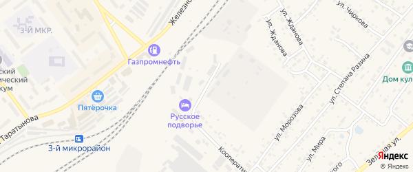 Нефтяной переулок на карте Заринска с номерами домов