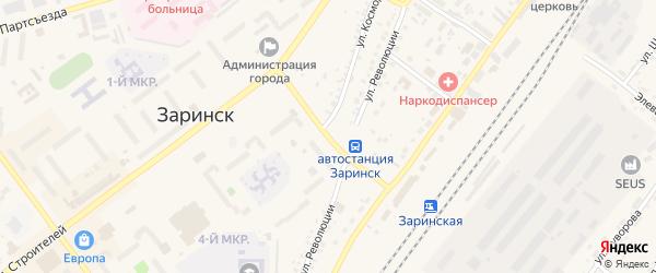 Улица Воинов-интернационалистов на карте Заринска с номерами домов