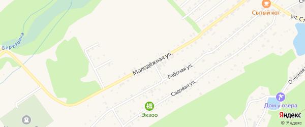 Молодежная улица на карте Белокурихи с номерами домов