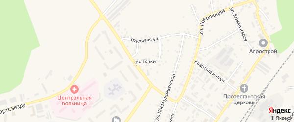 Улица Топки на карте Заринска с номерами домов