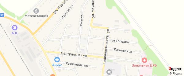 Улица Гагарина на карте Зонального села с номерами домов