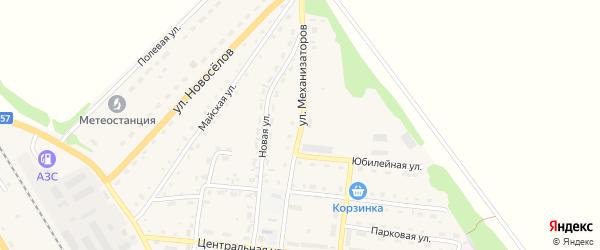 Улица Механизаторов на карте Зонального села с номерами домов