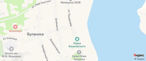 Улица Пошевнева на карте села Буланихи с номерами домов
