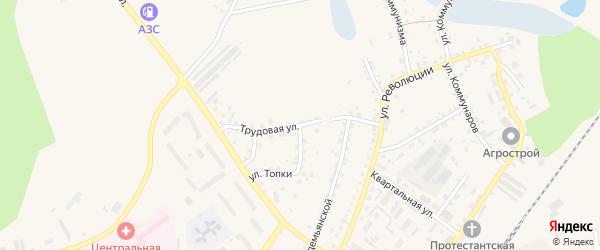 Трудовая улица на карте Заринска с номерами домов