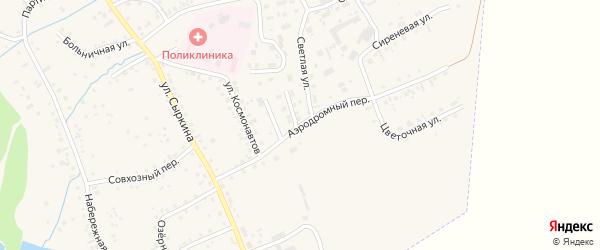 Аэродромный переулок на карте Заринска с номерами домов