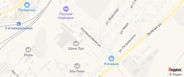 Кооперативная улица на карте Заринска с номерами домов