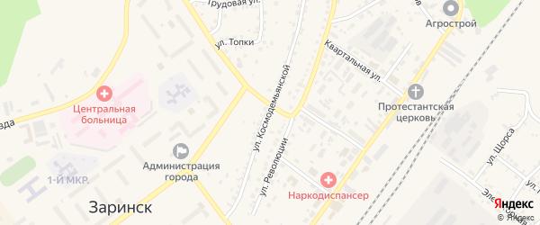 Улица Космодемьянской на карте Заринска с номерами домов
