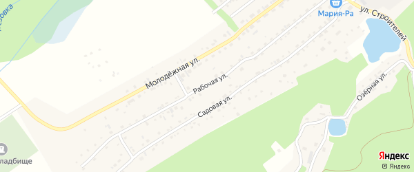 Рабочая улица на карте Белокурихи с номерами домов