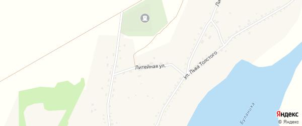Литейная улица на карте садового некоммерческого товарищества N 3 с номерами домов