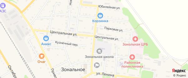 Социалистическая улица на карте Зонального села с номерами домов