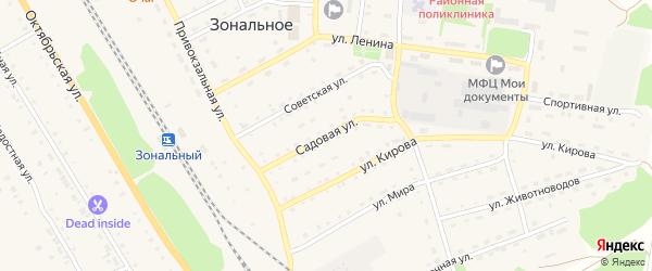 Садовая улица на карте Зонального села с номерами домов