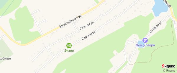 Садовая улица на карте Белокурихи с номерами домов