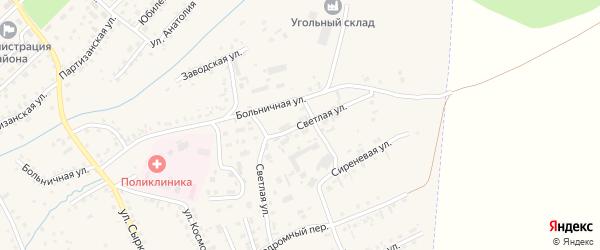 Светлая улица на карте Заринска с номерами домов