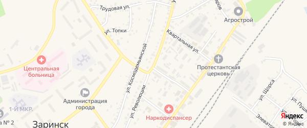 Улица Революции на карте Заринска с номерами домов