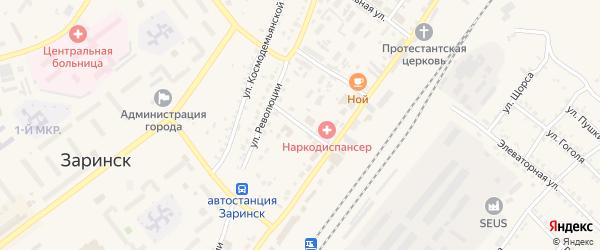 2-й железнодорожный переулок на карте Заринска с номерами домов