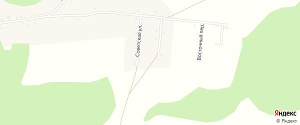 Солнечный переулок на карте села Новотырышкино с номерами домов