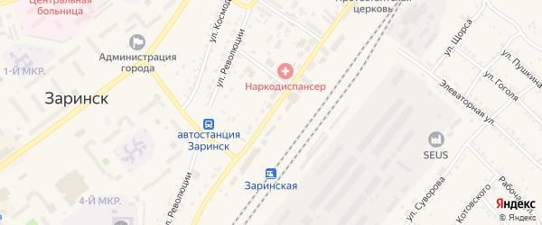Железнодорожная улица на карте Заринска с номерами домов