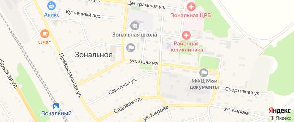 Улица Ленина на карте Зонального села с номерами домов