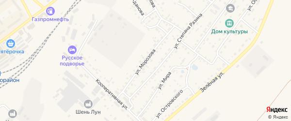 Улица Морозова на карте Заринска с номерами домов