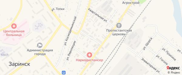 3-й железнодорожный переулок на карте Заринска с номерами домов