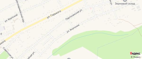 Улица Анатолия на карте Заринска с номерами домов