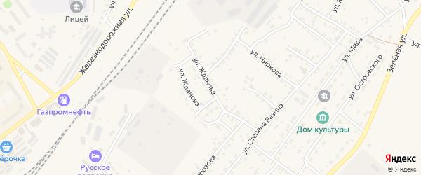 Улица Жданова на карте Заринска с номерами домов