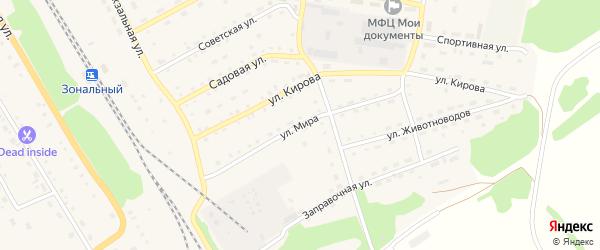 Улица Мира на карте Зонального села с номерами домов