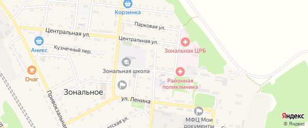 Школьная улица на карте Зонального села с номерами домов