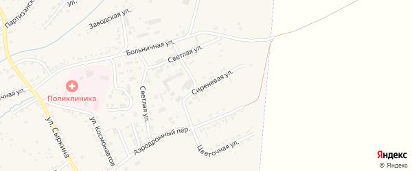 Сиреневая улица на карте Заринска с номерами домов
