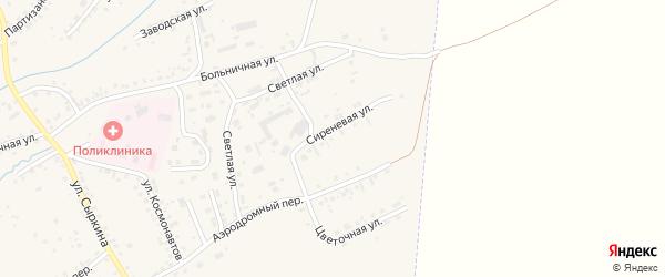 Сиреневая улица на карте садового некоммерческого товарищества N 8 с номерами домов
