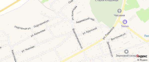Водопроводная улица на карте Заринска с номерами домов