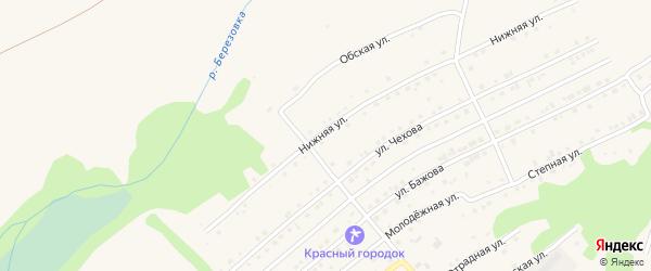 Нижняя улица на карте Белокурихи с номерами домов