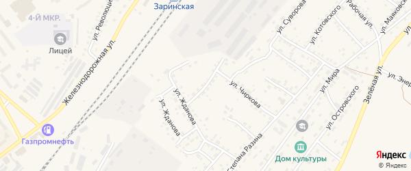 Заготзерновский переулок на карте Заринска с номерами домов