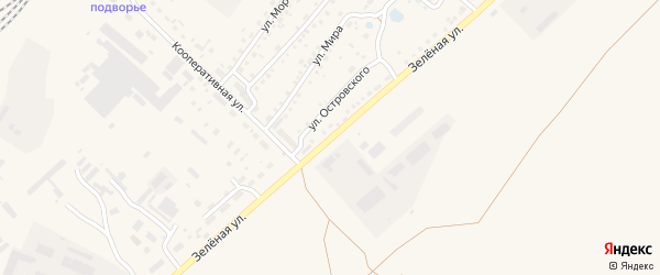 Зеленая улица на карте Заринска с номерами домов