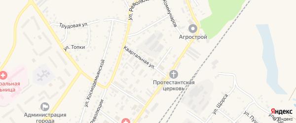 Квартальная улица на карте Заринска с номерами домов