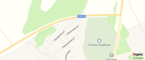 Конечная улица на карте Заринска с номерами домов