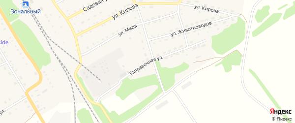 Заправочная улица на карте Зонального села с номерами домов