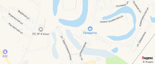 Сельская улица на карте Заринска с номерами домов