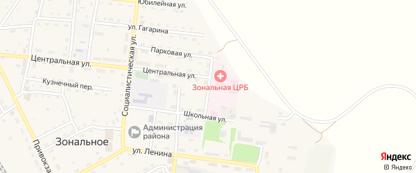 Больничная улица на карте Зонального села с номерами домов