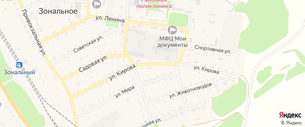Улица Кирова на карте Зонального села с номерами домов