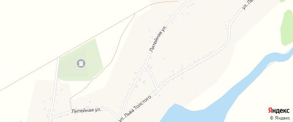 Литейная улица на карте села Буланихи с номерами домов