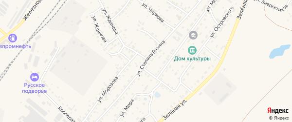 Улица Степана Разина на карте Заринска с номерами домов