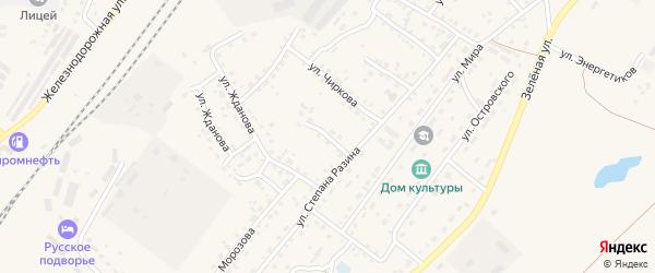 Улица Лермонтова на карте Заринска с номерами домов