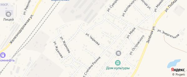 Улица Чиркова на карте Заринска с номерами домов