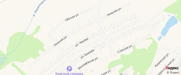 Улица Чехова на карте Белокурихи с номерами домов