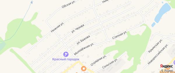 Улица Бажова на карте Белокурихи с номерами домов