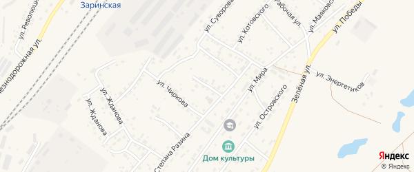 Улица Крылова на карте Заринска с номерами домов